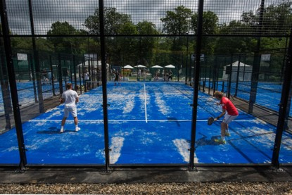 Padel courts and tents